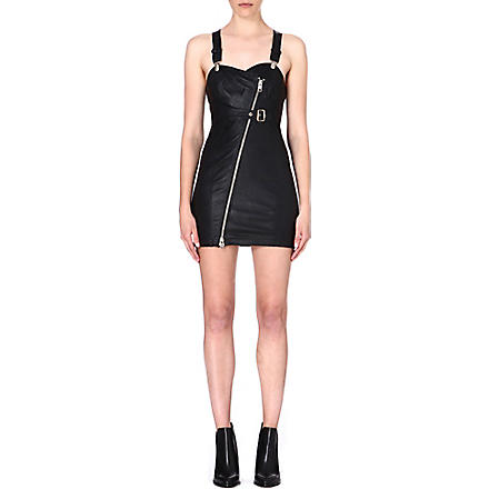 DIESEL Raka leather dress (Black
