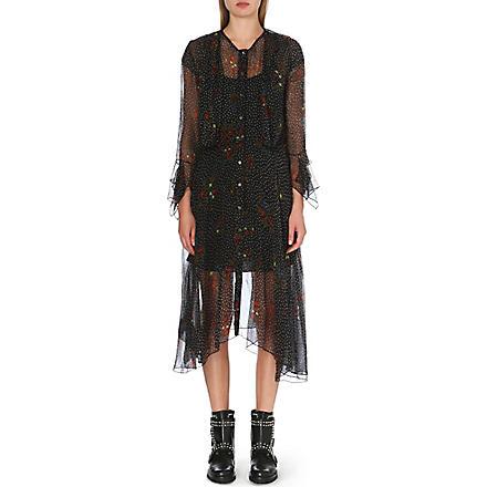 DIESEL Floral chiffon dress (Black
