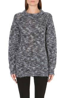 DIESEL Flecked knitted jumper