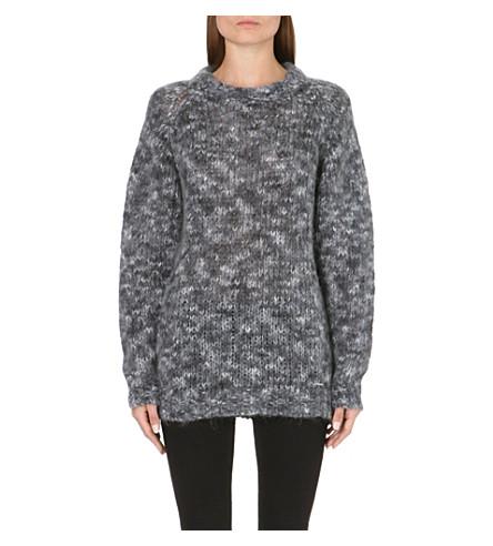DIESEL Flecked knitted jumper (Black