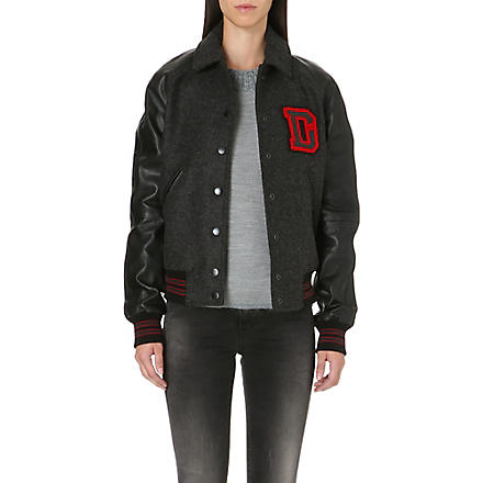 DIESEL L-crew baseball jacket (Black