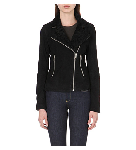 DIESEL L-Yuki leather biker jacket (Black