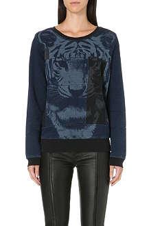 DIESEL Tiger patchwork sweatshirt