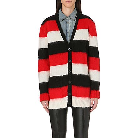 DIESEL Bold stripe cardigan (Red