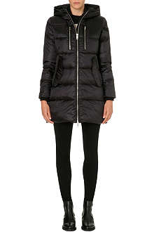DIESEL Hooded quilted coat