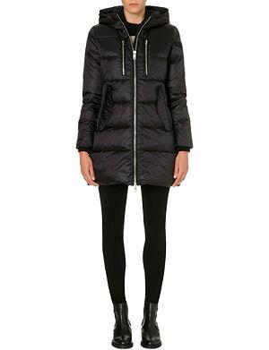 DIESEL Hooded quilted coat