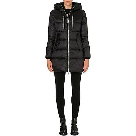 DIESEL Hooded quilted coat (Black