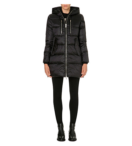DIESEL Hooded quilted coat (Black