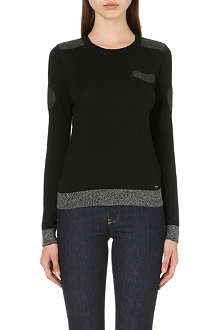 DIESEL Contrast-panel knitted jumper
