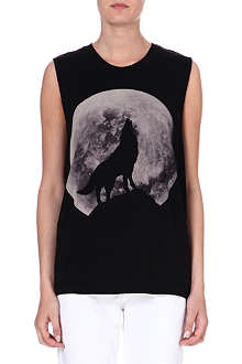 DIESEL Moon-print cotton vest