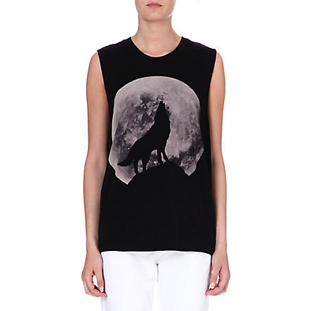 DIESEL Print cotton vest (Black