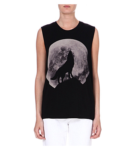 DIESEL Moon-print cotton vest (Black