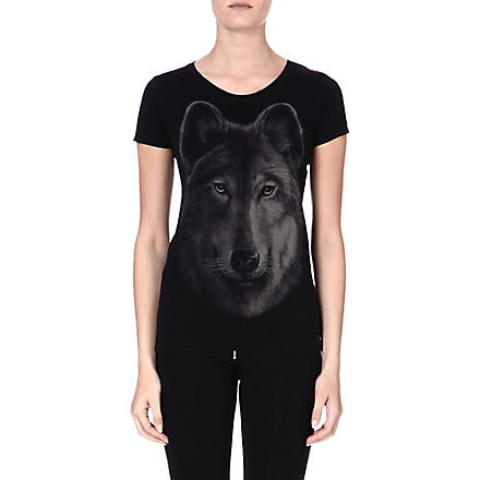 DIESEL Cotton print T-shirt (Black