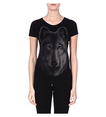 DIESEL Cotton print T-shirt (Black