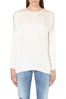 DIESEL Satin crew neck blouse