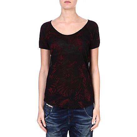 DIESEL Print jersey T-shirt (Red