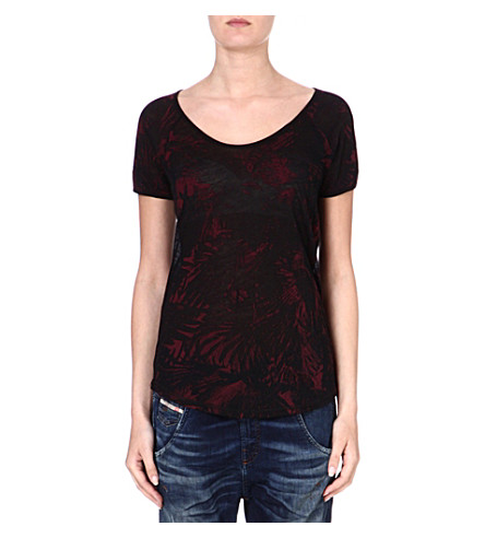 DIESEL Print jersey T-shirt (Red