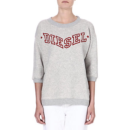 DIESEL Logo-print jersey sweatshirt (Grey