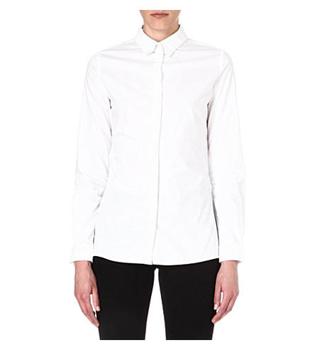 DIESEL Mirab denim-collar shirt (White