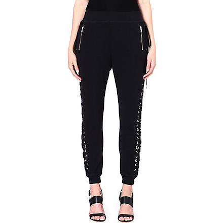DIESEL Tie-detail jogging bottoms (Black