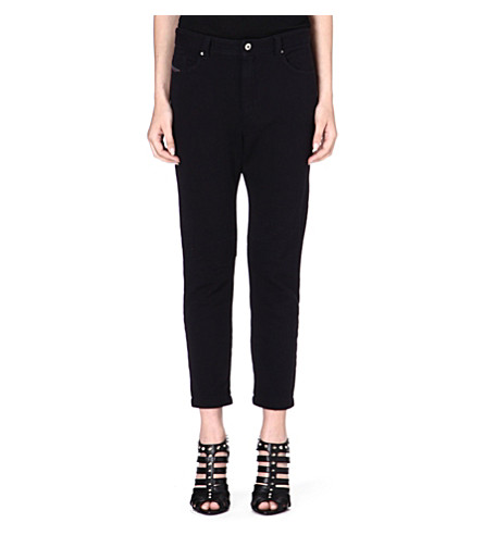 DIESEL Tapered cotton trousers (Black