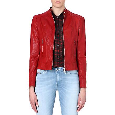 DIESEL L-Spice-A leather jacket (42a