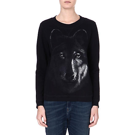 DIESEL Print cotton sweater (Black
