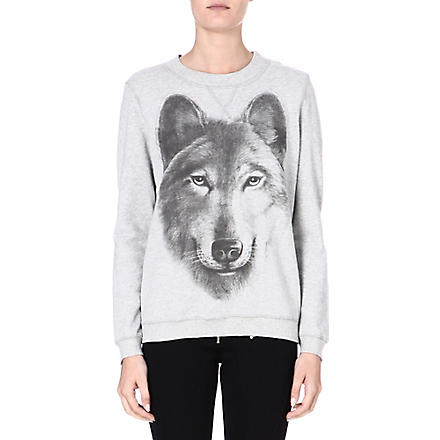 DIESEL Print cotton sweater (Grey