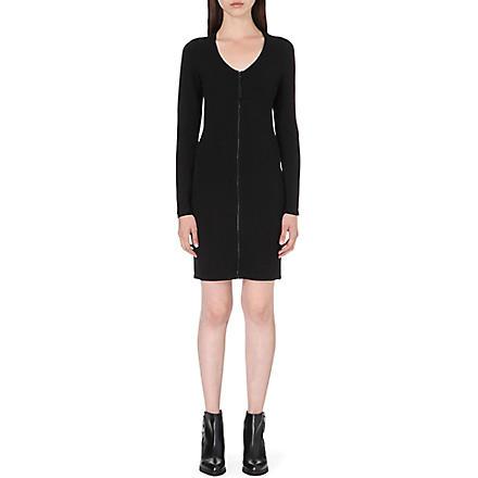 DIESEL D-Blair-A zip-detail stretch-crepe dress (Black