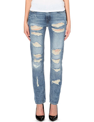 DIESEL Rizzo distressed straight low-rise jeans