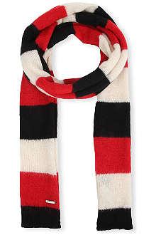 DIESEL K-Bech striped scarf
