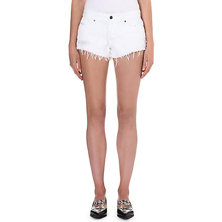DIESEL Frayed denim shorts (100