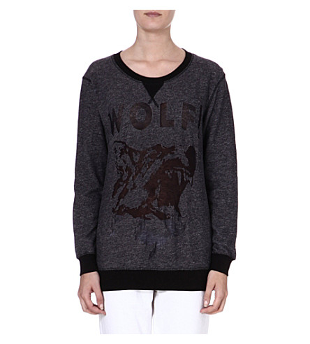 DIESEL Cotton-blend print sweater (93r