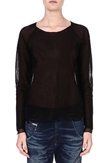 DIESEL Semi-sheer crepe top