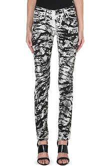 DIESEL Snake-print skinny mid-rise jeans