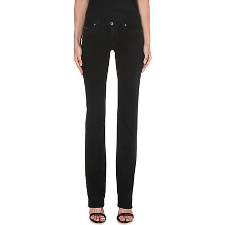 DIESEL Straight-leg mid-rise jeans (Black