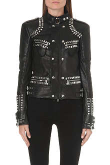 DIESEL Lazus studded leather jacket