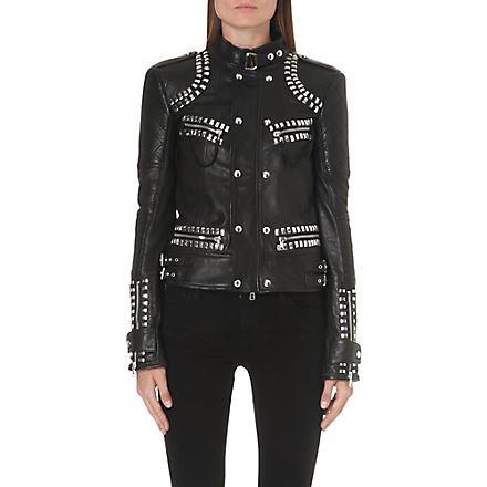 DIESEL Lazus studded leather jacket (Black