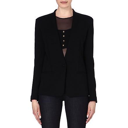 DIESEL Waly jersey blazer (Black