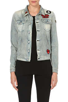 DIESEL Appliqué-detail denim jacket