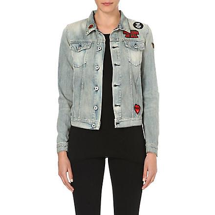 DIESEL Appliqué-detail denim jacket (Denim