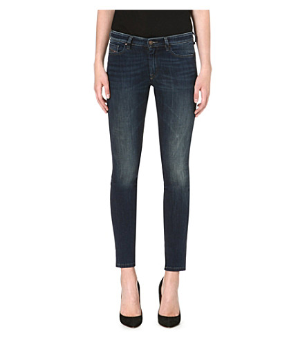 DIESEL Doris stretch-denim skinny jeans (Blue
