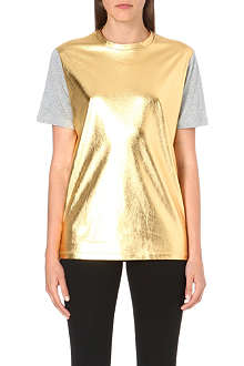 DIESEL Tamal metallic-coated t-shirt