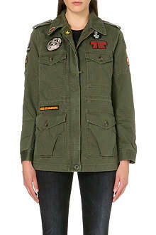 DIESEL Gyvettea badge-detailed military jacket