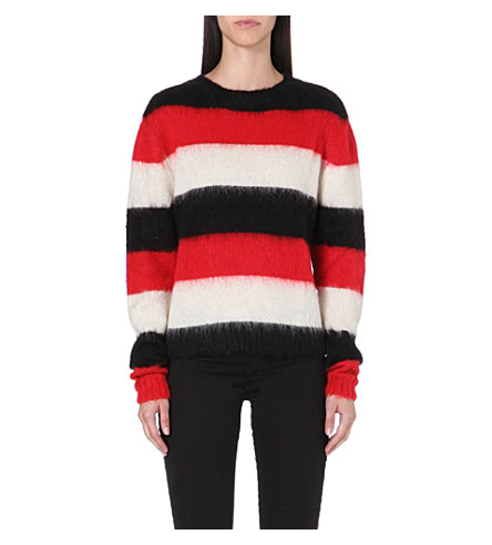 DIESEL M-carol bold stripe jumper (Red
