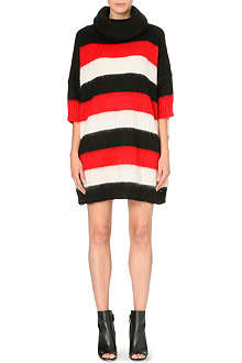 DIESEL Bold stripe knitted dress