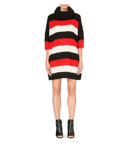 DIESEL Bold stripe knitted dress (Red