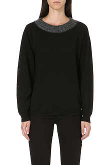 DIESEL Mkobe contrast-collar jumper
