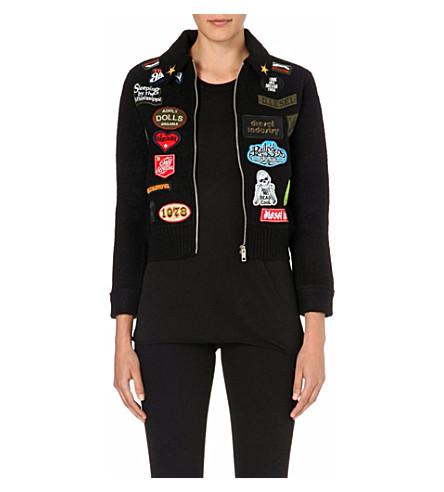 DIESEL Appliqué-detail wool jacket (Black