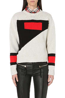 DIESEL Meste colour-blocked jumper